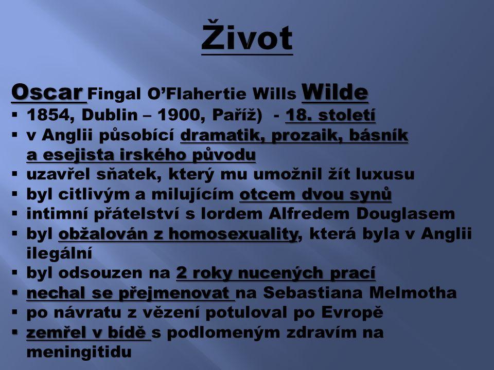 Oscar Wilde Oscar Fingal O'Flahertie Wills Wilde 18.