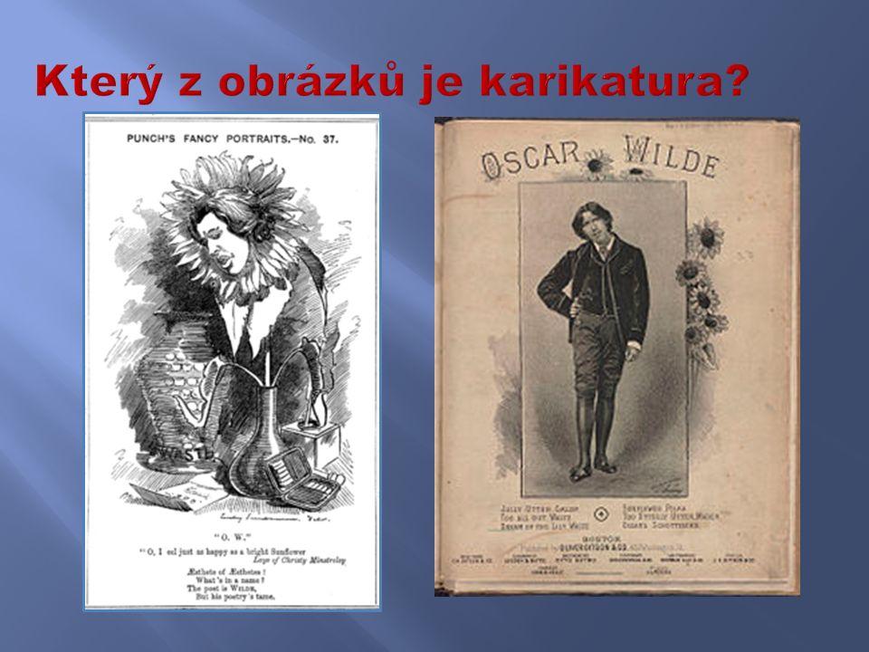Který z obrázků je karikatura?