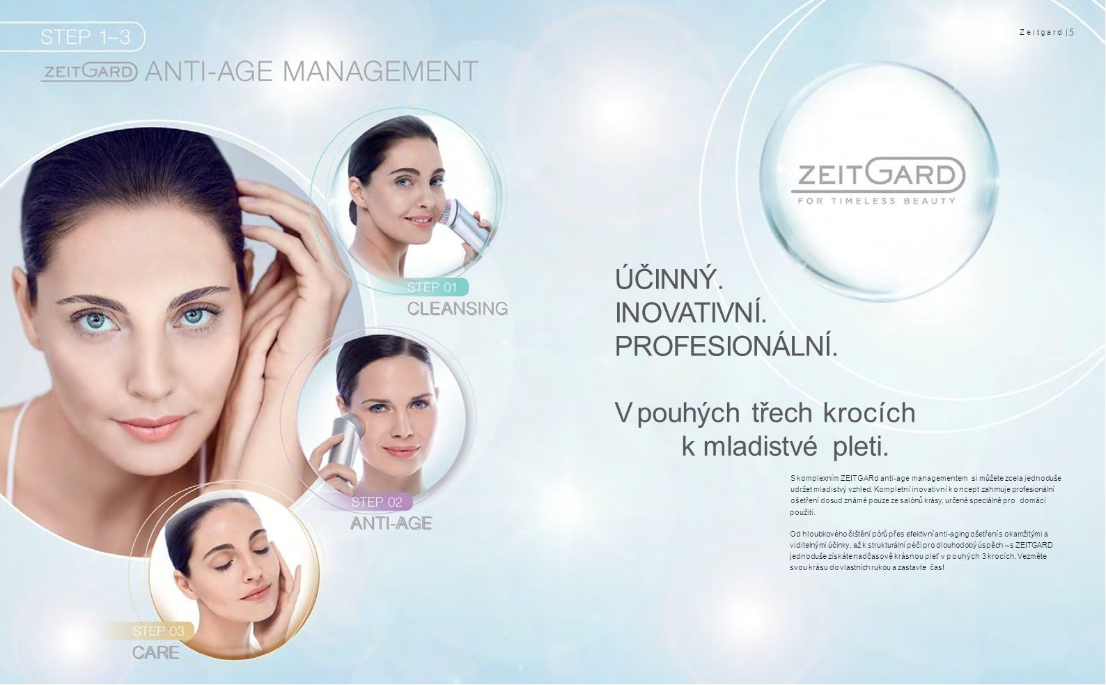CLEANSING ANTI-AGE CARECARE Zeitgard | 5 ÚČINNÝ. INOVATIVNÍ.