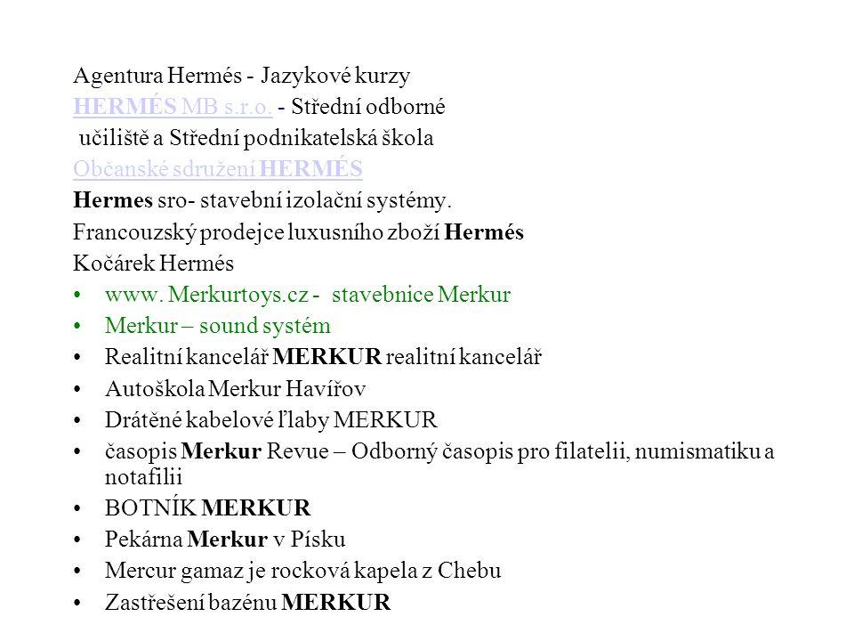 Agentura Hermés - Jazykové kurzy HERMÉS MB s.r.o.HERMÉS MB s.r.o.