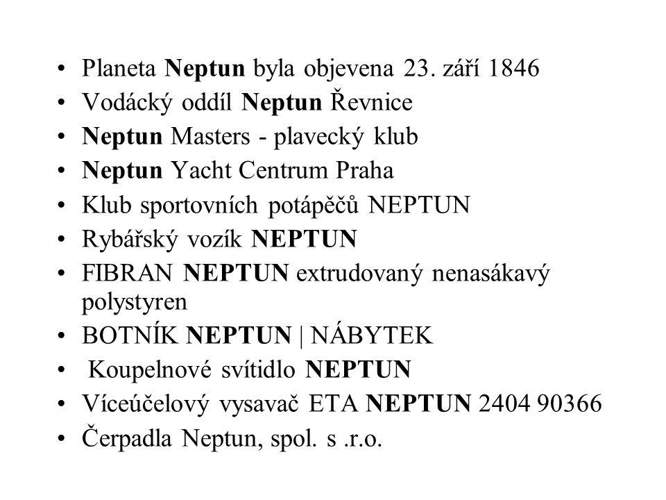 Planeta Neptun byla objevena 23.