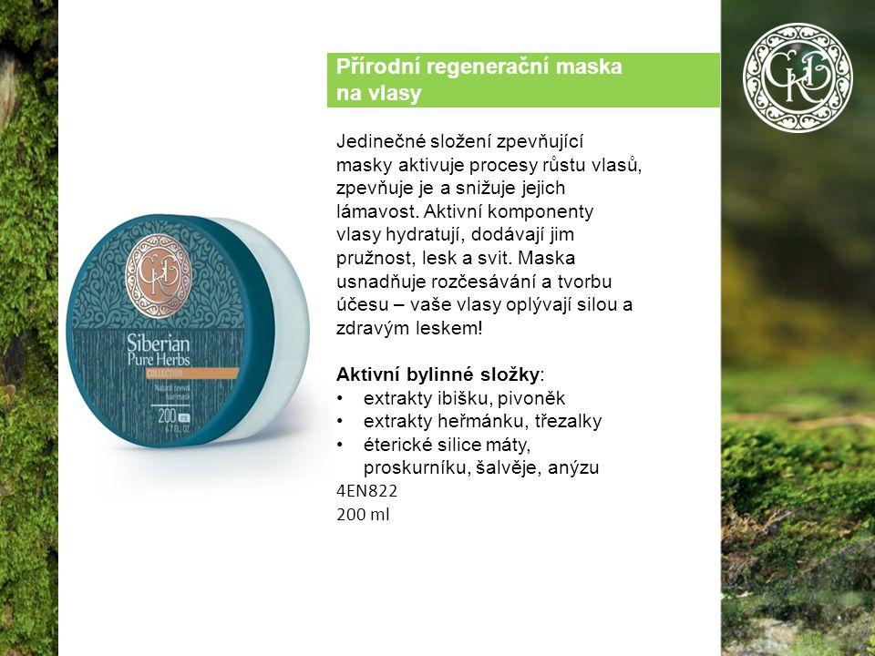Přírodní regenerační maska na vlasy Jedinečné složení zpevňující masky aktivuje procesy růstu vlasů, zpevňuje je a snižuje jejich lámavost.