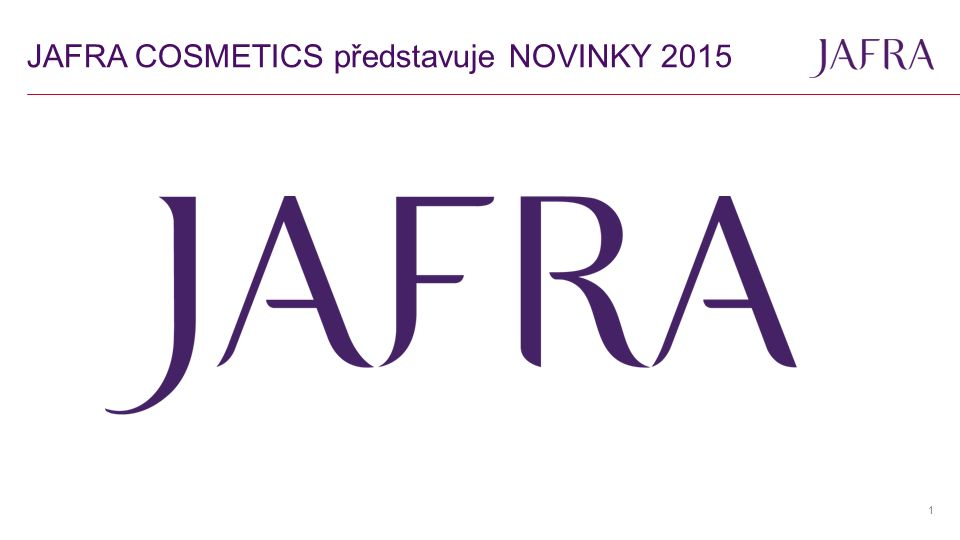 JAFRA COSMETICS představuje NOVINKY 2015 1