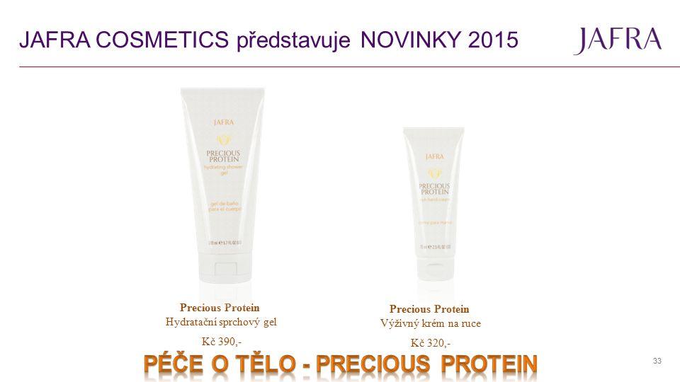 33 Precious Protein Hydratační sprchový gel Precious Protein Výživný krém na ruce Kč 390,- Kč 320,-