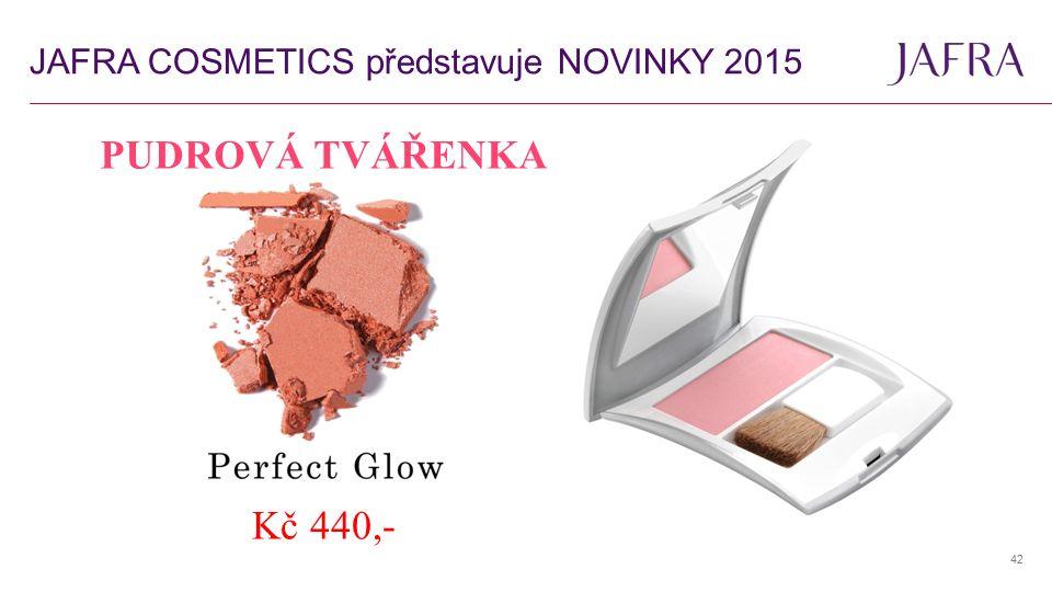 42 PUDROVÁ TVÁŘENKA Kč 440,- JAFRA COSMETICS představuje NOVINKY 2015
