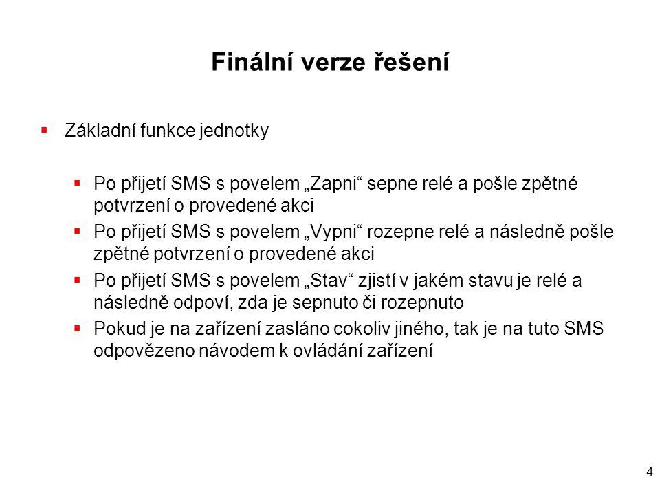 45 SMS deliver  Pokud mobilní telefon vhodně naprogramujeme, tak příchozí SMS se automaticky objeví na jeho sériovém výstupu  AT+CNMI=3,3,0,0  A následně ji můžeme zpracovávat