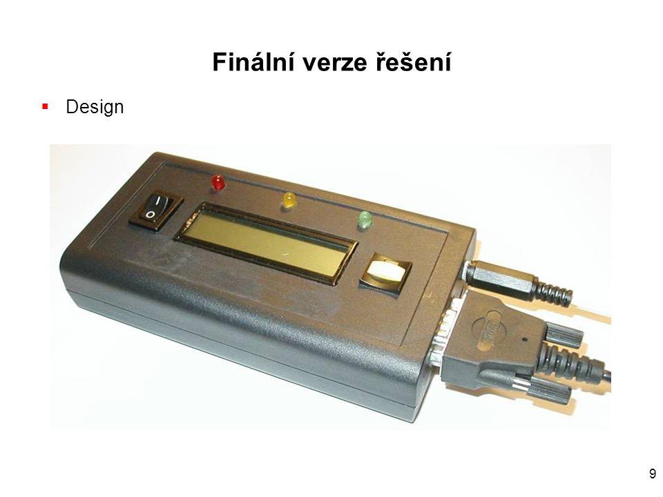 9 Finální verze řešení  Design