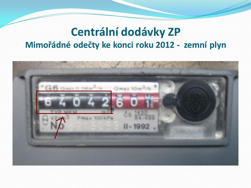 Centrální dodávky ZP Mimořádné odečty ke konci roku 2012 - zemní plyn
