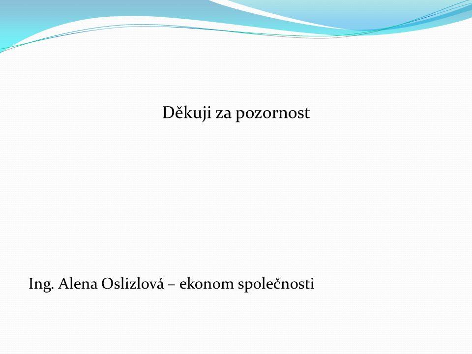 Děkuji za pozornost Ing. Alena Oslizlová – ekonom společnosti