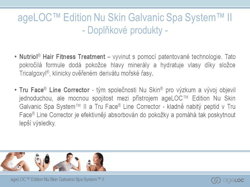 ageLOC™ Edition Nu Skin Galvanic Spa System™ II - Doplňkové produkty - Nutriol ® Hair Fitness Treatment – vyvinut s pomocí patentované technologie.
