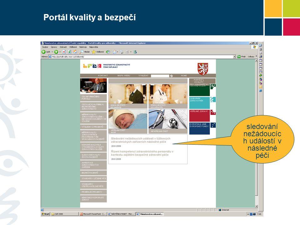Portál kvality a bezpečí sledování nežádoucíc h událostí v následné péči