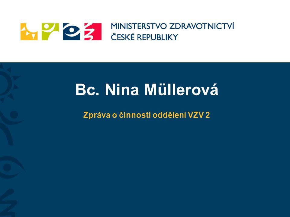 Bc. Nina Müllerová Zpráva o činnosti oddělení VZV 2