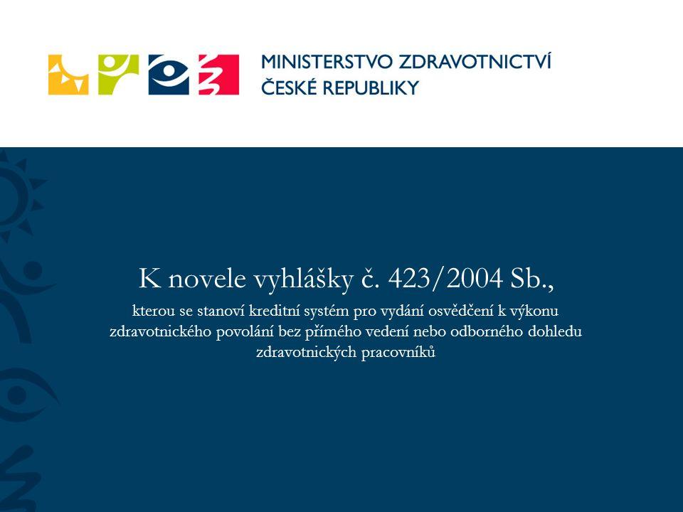 K novele vyhlášky č.