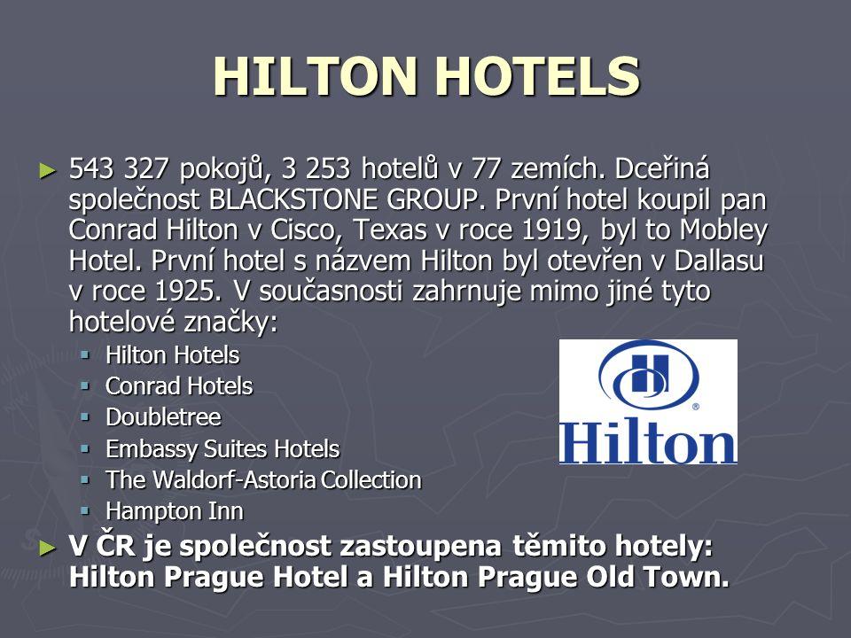 HILTON HOTELS ► 543 327 pokojů, 3 253 hotelů v 77 zemích.