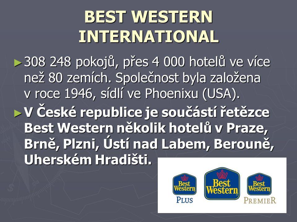 BEST WESTERN INTERNATIONAL ► 308 248 pokojů, přes 4 000 hotelů ve více než 80 zemích.
