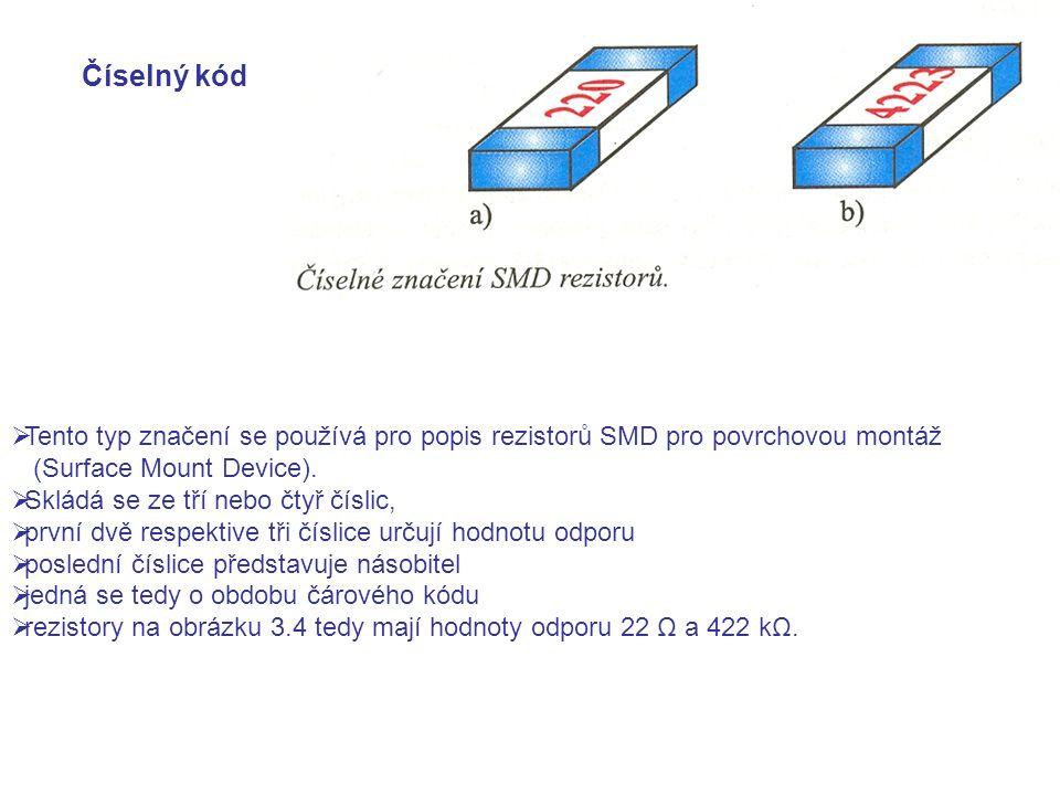 TTento typ značení se používá pro popis rezistorů SMD pro povrchovou montáž (Surface Mount Device).