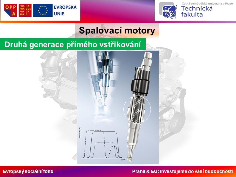 Evropský sociální fond Praha & EU: Investujeme do vaší budoucnosti Spalovací motory Druhá generace přímého vstřikování