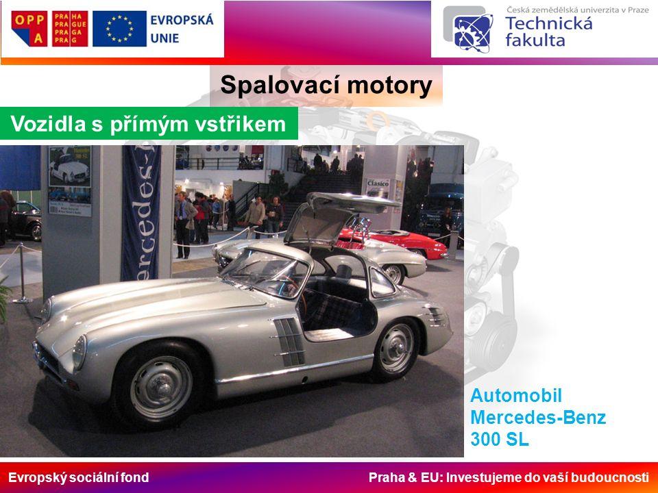 Evropský sociální fond Praha & EU: Investujeme do vaší budoucnosti Spalovací motory Vozidla s přímým vstřikem Automobil Mercedes-Benz 300 SL