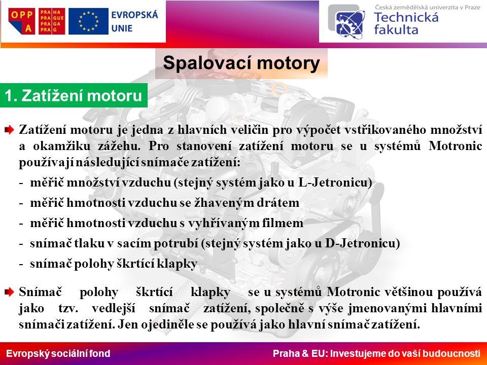 Evropský sociální fond Praha & EU: Investujeme do vaší budoucnosti Spalovací motory 1.