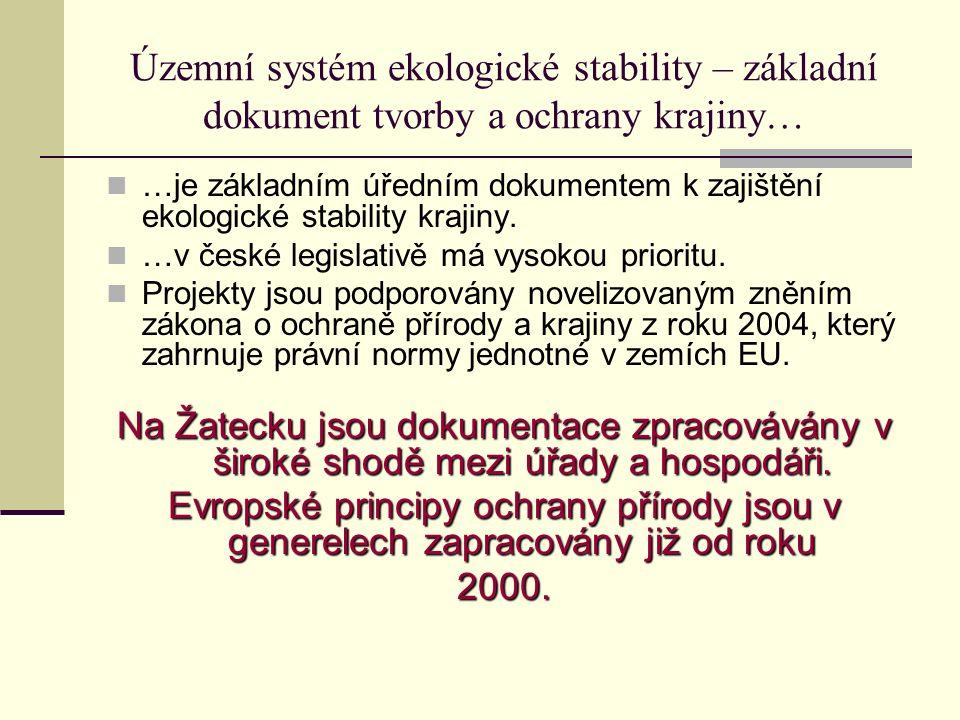Územní systém ekologické stability – základní dokument tvorby a ochrany krajiny… …je základním úředním dokumentem k zajištění ekologické stability krajiny.