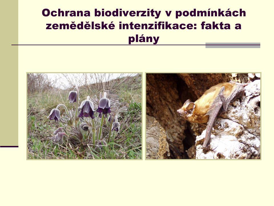 Ochrana biodiverzity v podmínkách zemědělské intenzifikace: fakta a plány