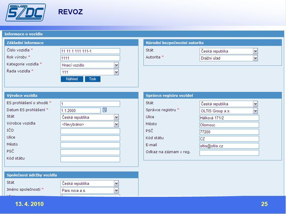 13. 4. 201025 REVOZ