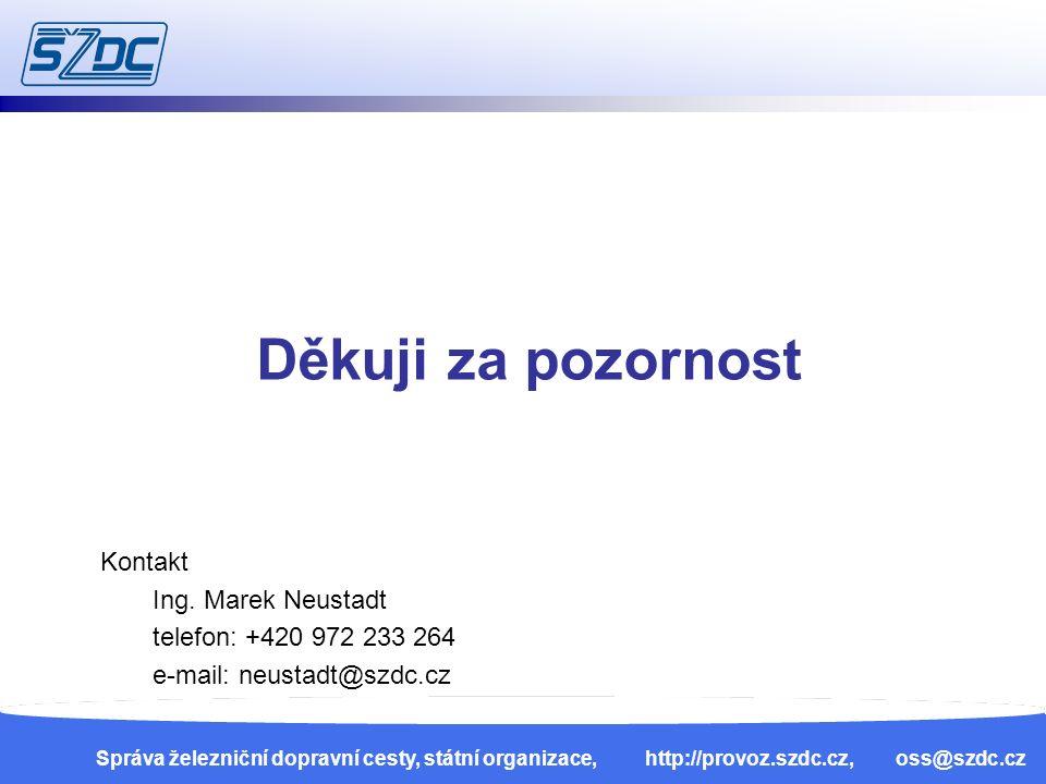 13. 4. 201033 Správa železniční dopravní cesty, státní organizace, http://provoz.szdc.cz, oss@szdc.cz Děkuji za pozornost Kontakt Ing. Marek Neustadt