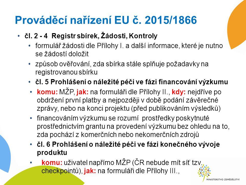 Prováděcí nařízení EU č. 2015/1866 čl.