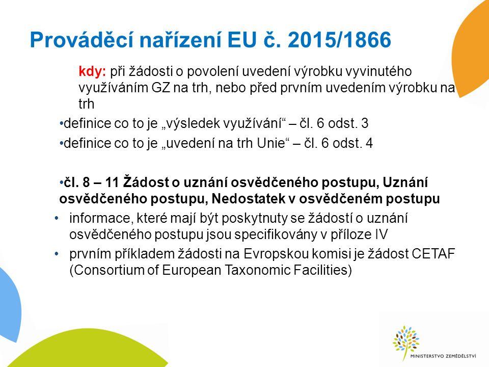 Prováděcí nařízení EU č.