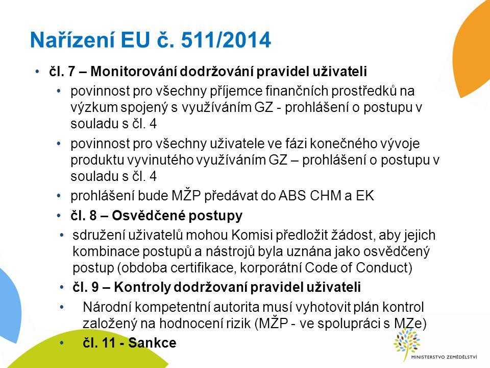 Nařízení EU č. 511/2014 čl.