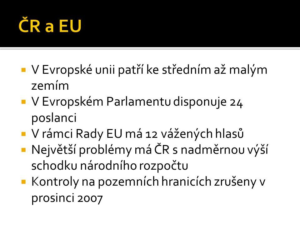  V Evropské unii patří ke středním až malým zemím  V Evropském Parlamentu disponuje 24 poslanci  V rámci Rady EU má 12 vážených hlasů  Největší pr