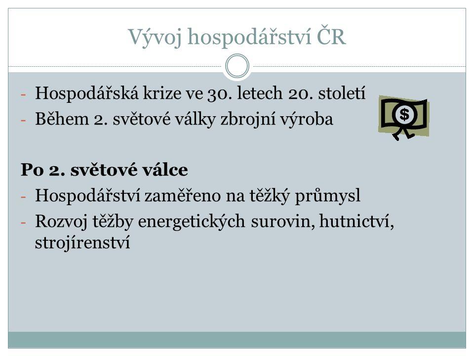 Vývoj hospodářství ČR - Hospodářská krize ve 30. letech 20.
