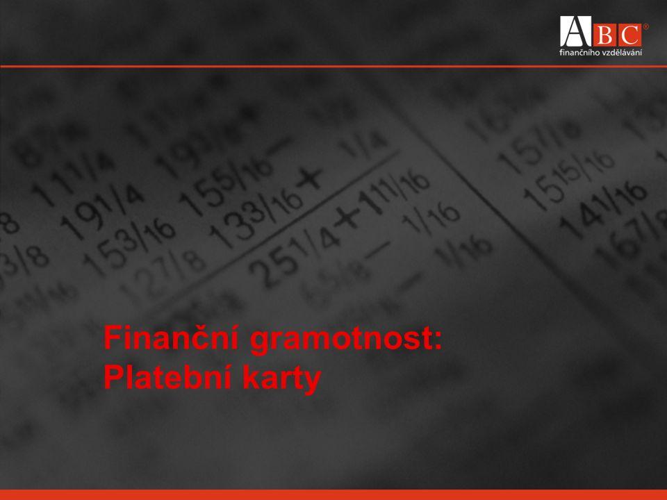 Finanční gramotnost: Platební karty