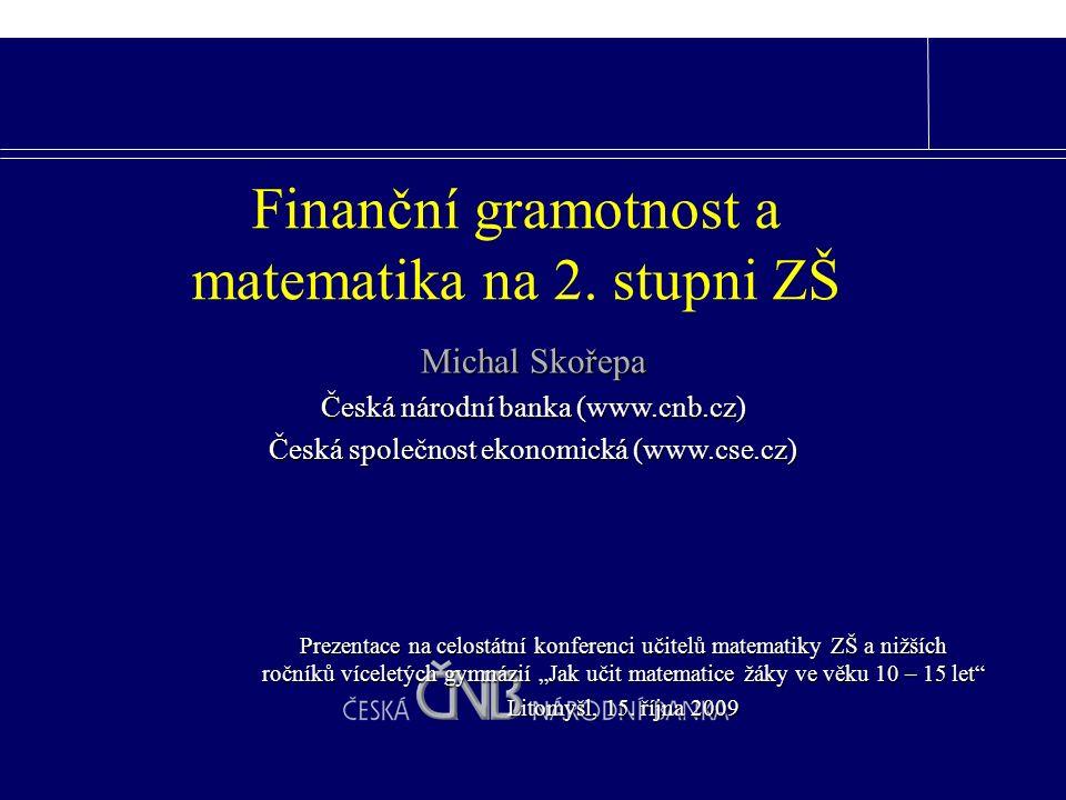 Finanční matematika vs. pojistná matematika vs.