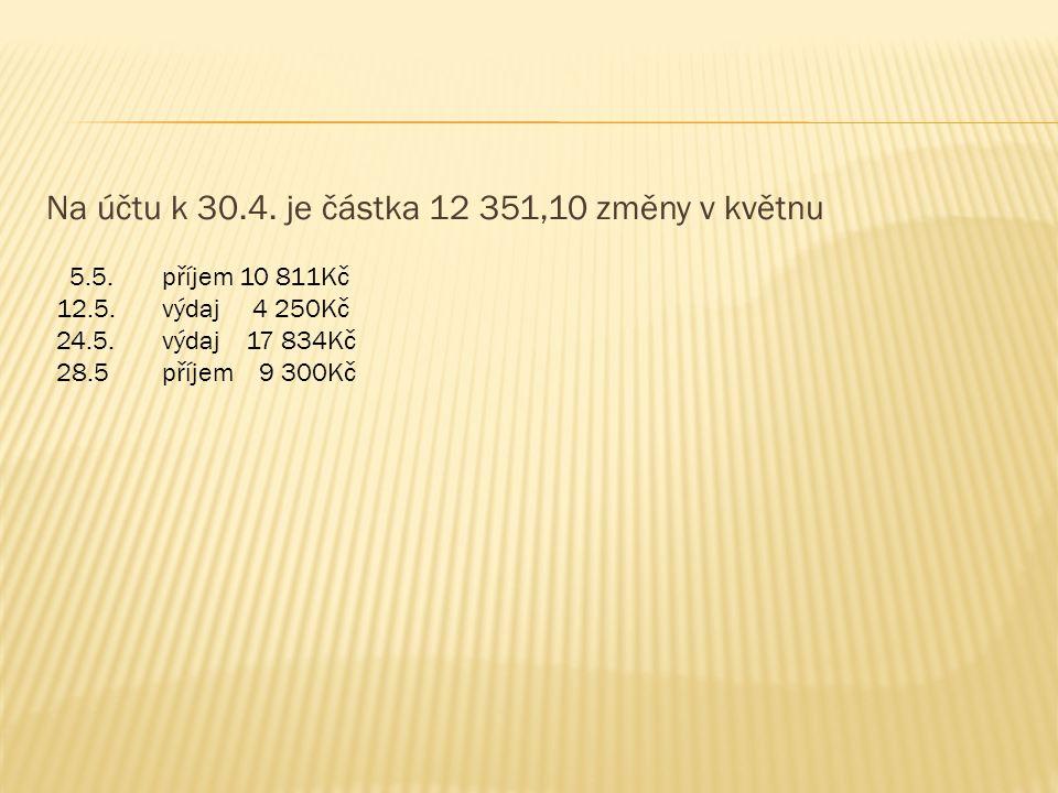  K = 10 378,10 + 10,11  poplatky: vedení účtu 15,-