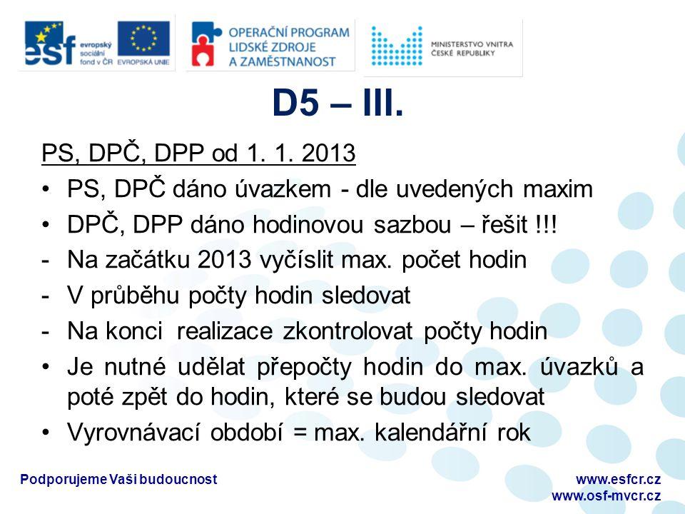 D5 – III. PS, DPČ, DPP od 1. 1.