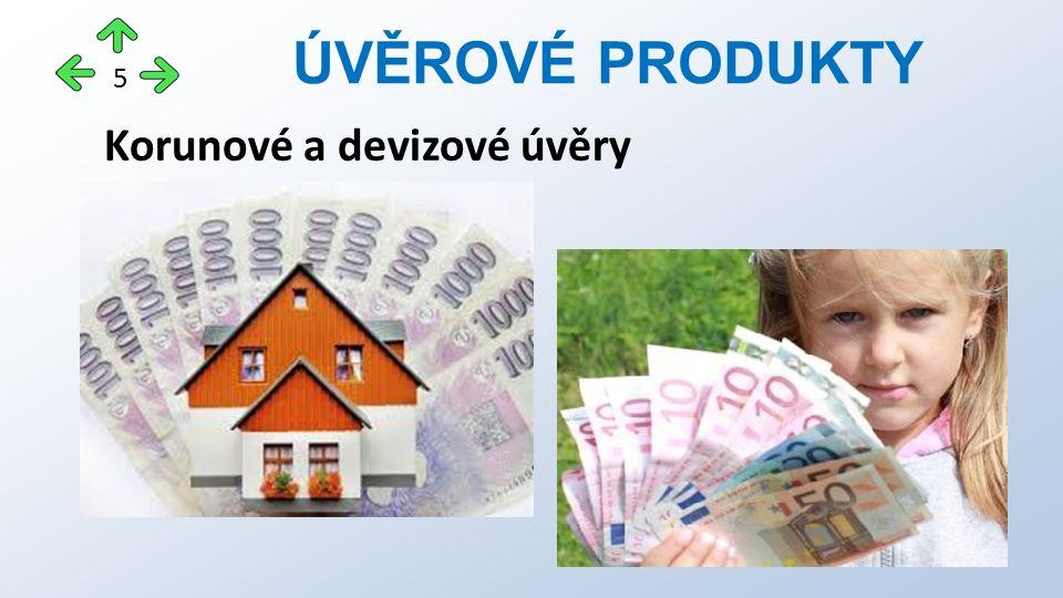 Korunové a devizové úvěry ÚVĚROVÉ PRODUKTY 5