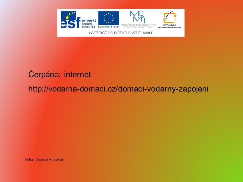 http://vodarna-domaci.cz/domaci-vodarny-zapojeni Čerpáno: internet Autor: Vojtěch Rozsíval