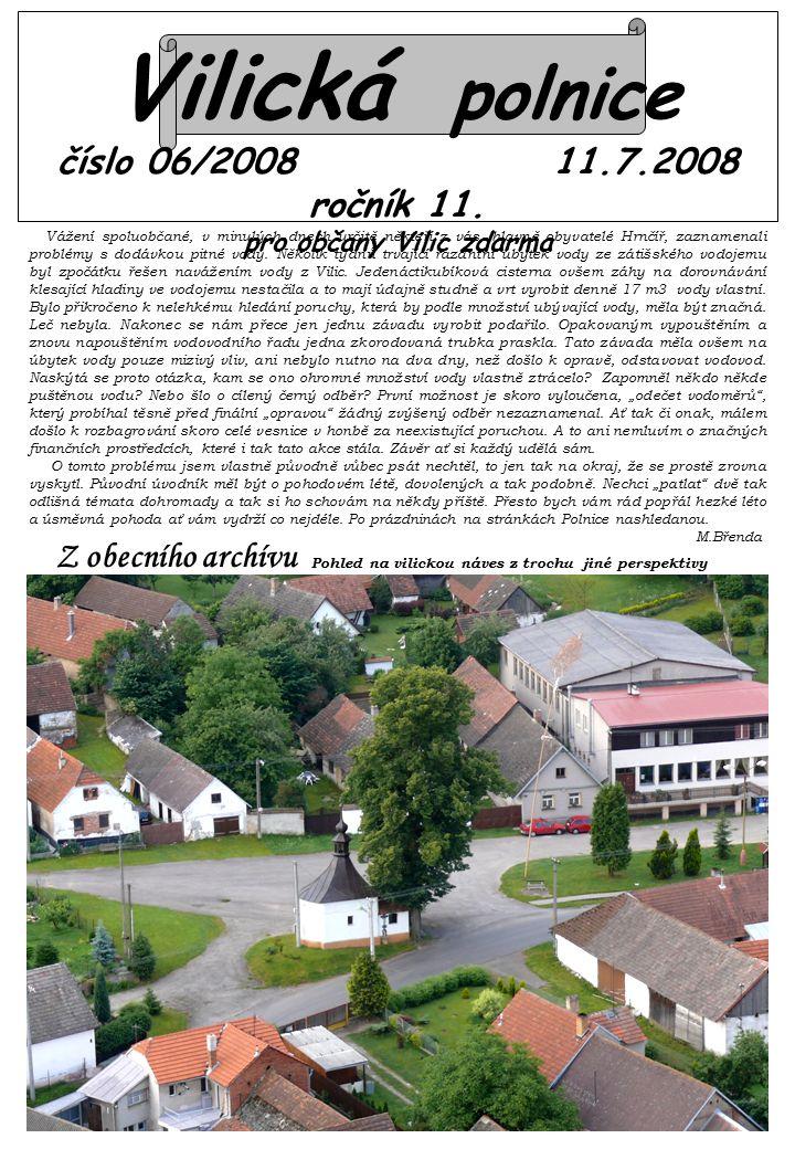 Vilická polnice číslo 06/2008 11.7.2008 ročník 11.