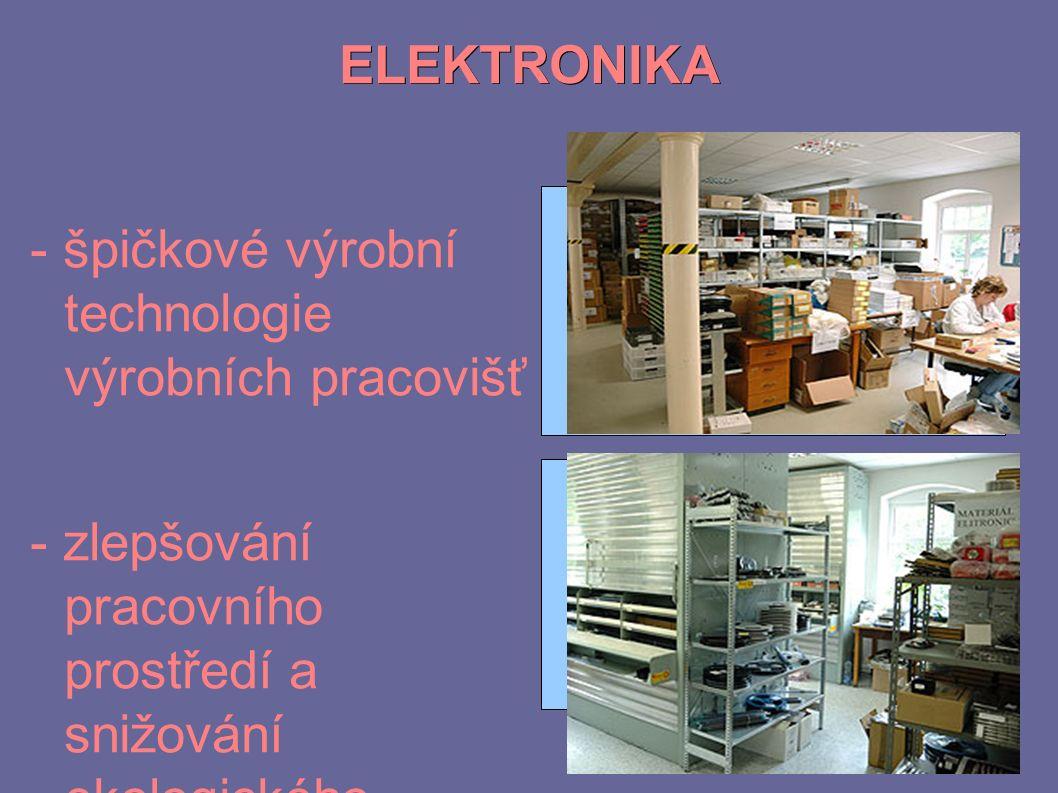ELEKTRONIKA - špičkové výrobní technologie výrobních pracovišť - zlepšování pracovního prostředí a snižování ekologického zatížení