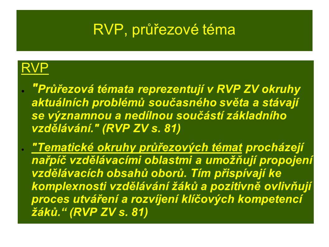 RVP, průřezové téma RVP ●