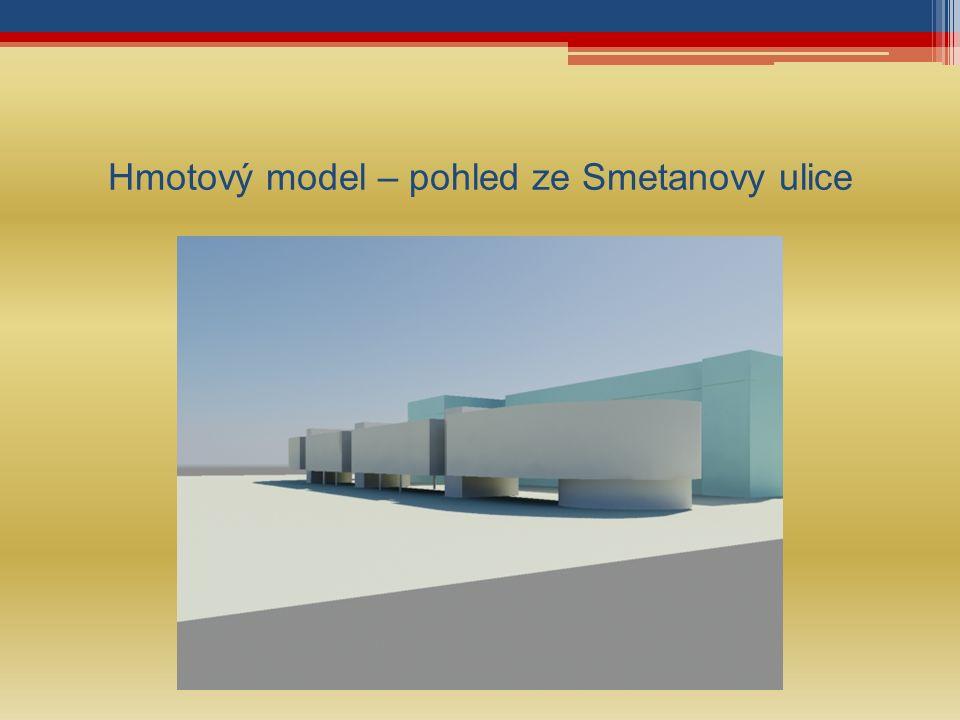 Hmotový model – pohled ze Smetanovy ulice