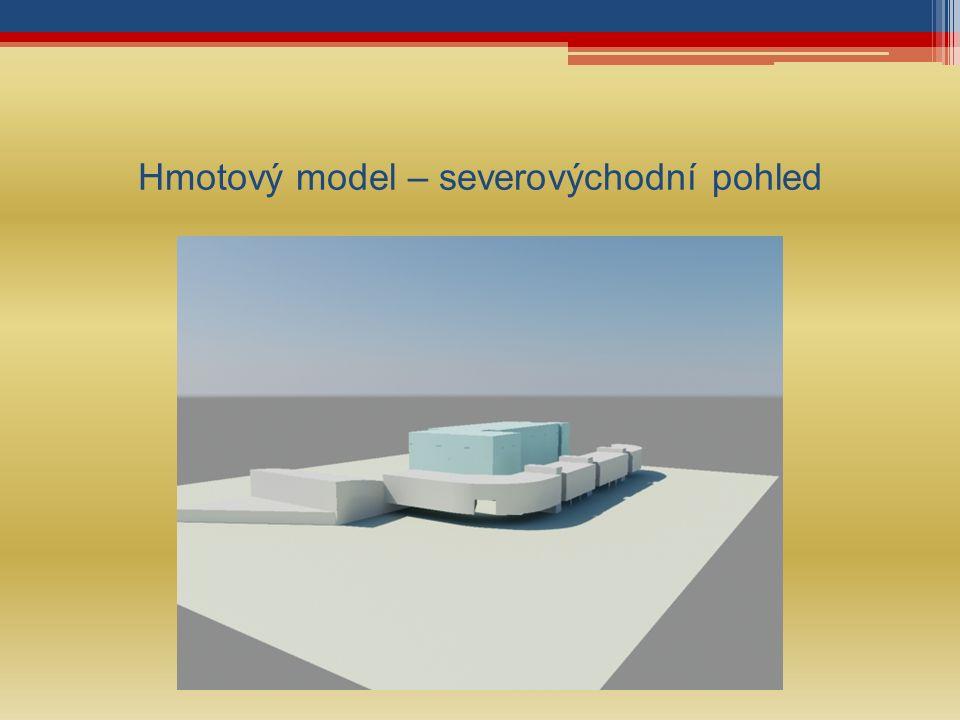 Hmotový model – severovýchodní pohled