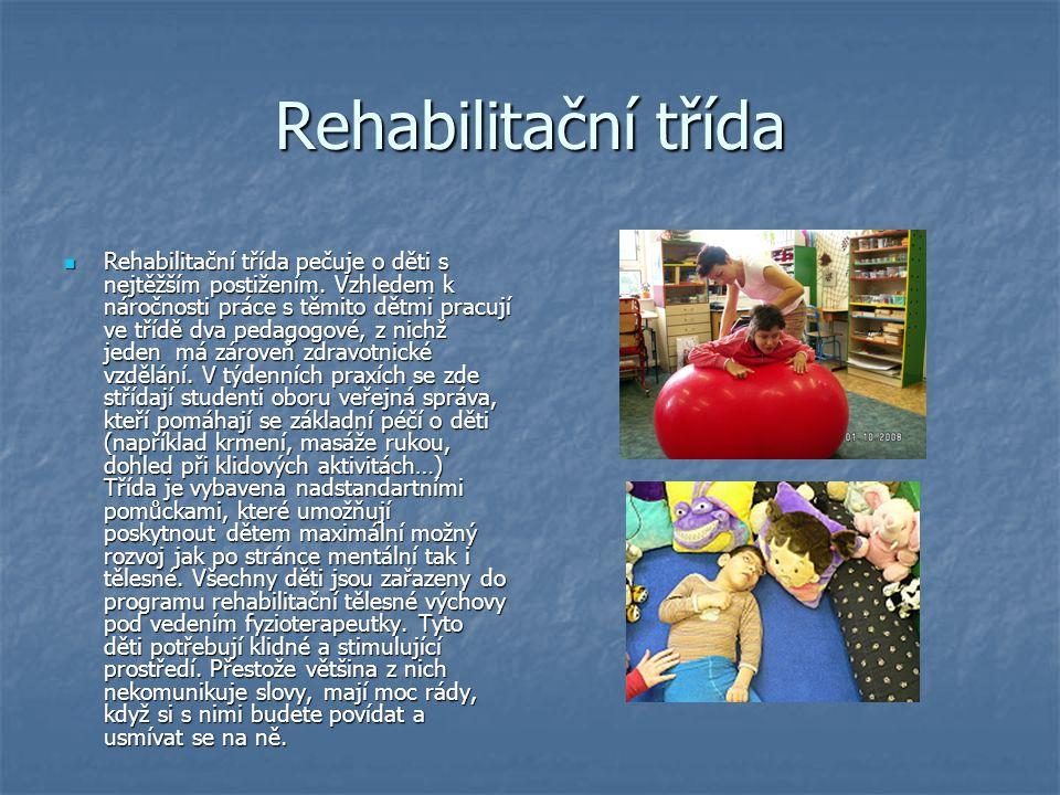 Rehabilitační třída Rehabilitační třída pečuje o děti s nejtěžším postižením.
