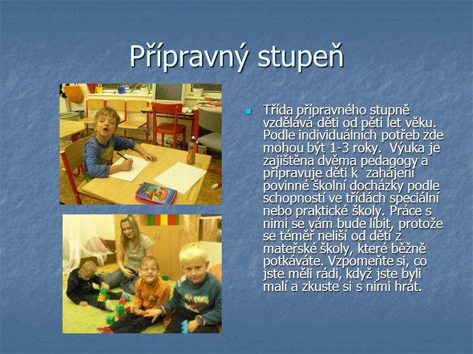 Přípravný stupeň Třída přípravného stupně vzdělává děti od pěti let věku.
