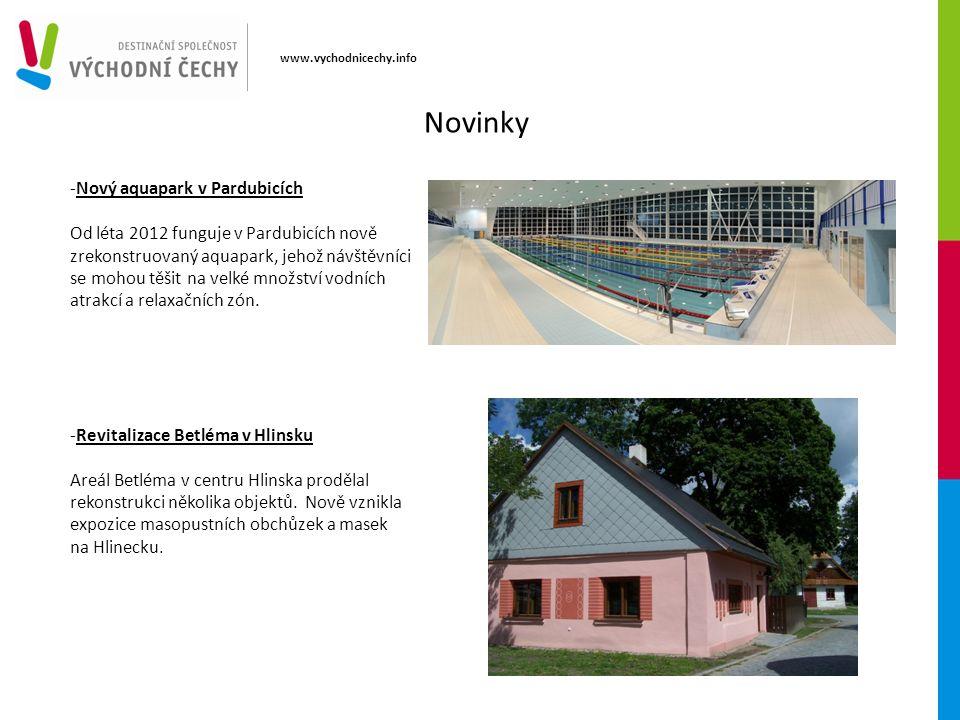 www.vychodnicechy.info -Nový aquapark v Pardubicích Od léta 2012 funguje v Pardubicích nově zrekonstruovaný aquapark, jehož návštěvníci se mohou těšit