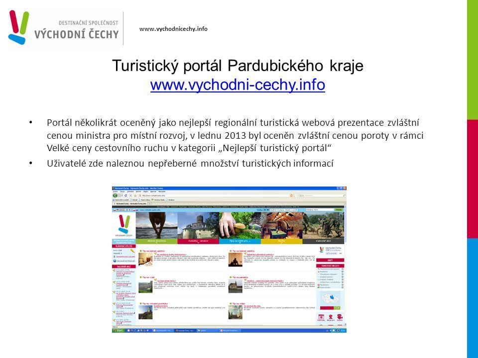www.vychodnicechy.info Turistický portál Pardubického kraje www.vychodni-cechy.info www.vychodni-cechy.info Portál několikrát oceněný jako nejlepší re