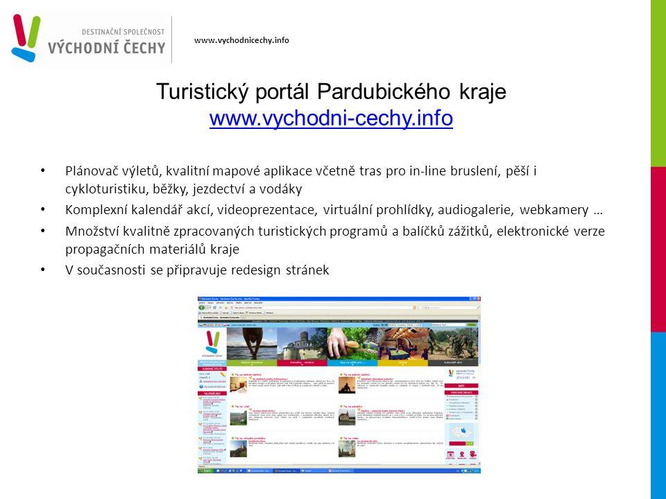 www.vychodnicechy.info Turistický portál Pardubického kraje www.vychodni-cechy.info www.vychodni-cechy.info Plánovač výletů, kvalitní mapové aplikace