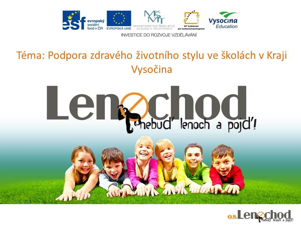 Téma: Podpora zdravého životního stylu ve školách v Kraji Vysočina