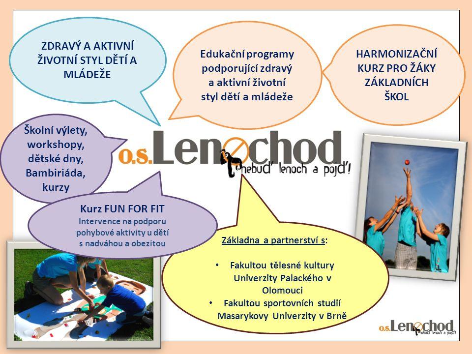 Edukační programy podporující zdravý a aktivní životní styl dětí a mládeže Školní výlety, workshopy, dětské dny, Bambiriáda, kurzy ZDRAVÝ A AKTIVNÍ ŽI